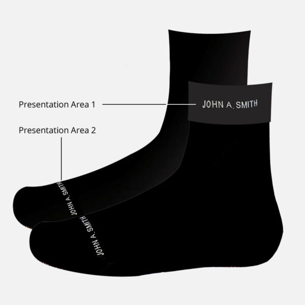 Personalized School Socks Diagram